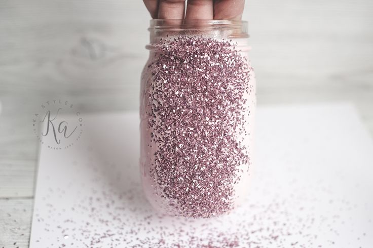 How to make glitter mason jar tutorial.