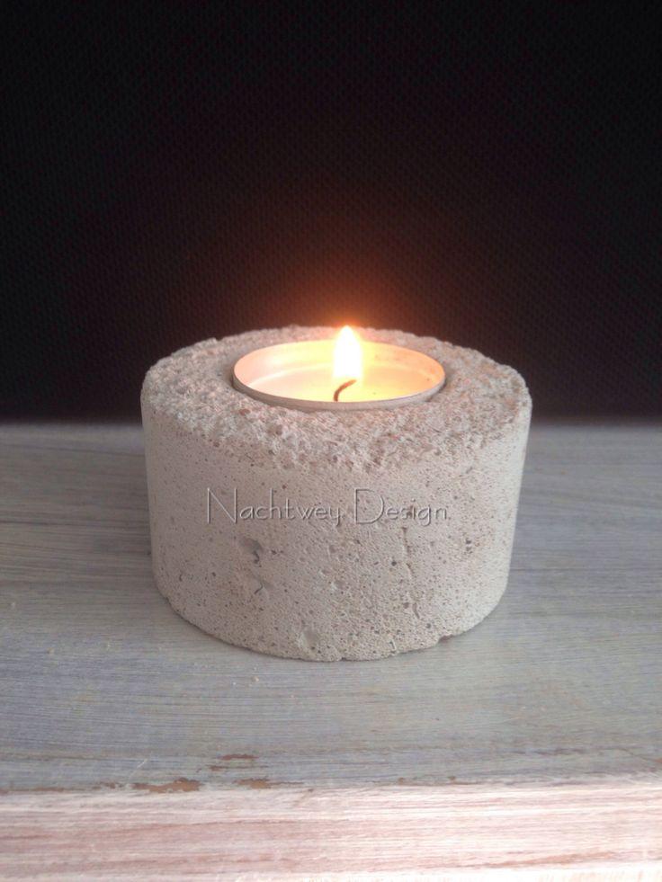 Beton Candlestick Kerzenhalter modern Teelichthalter shabby chic Minimalistic concrete industrial Candle Design von BetonDesignGER auf Etsy