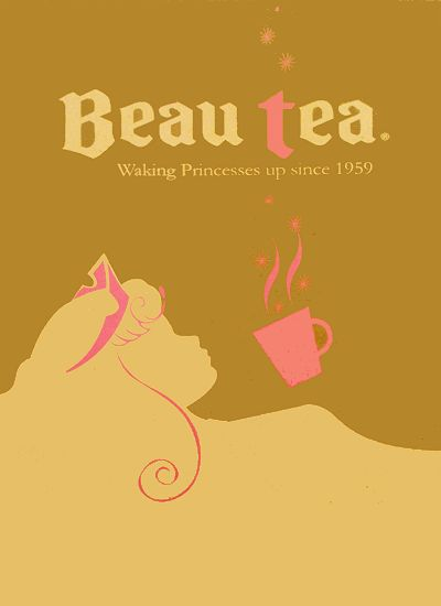 tea posterSleep Beautiful, Teas Time, Art Drawing, Disney Princesses, Beau Teas, Princesses Aurora, Disney Cartoons, Funny Art, Art Illustration