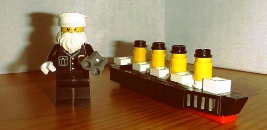 The R.M.S. Titanic and captain Edward John Smith (by Mezei László) #LEGO #Titanic