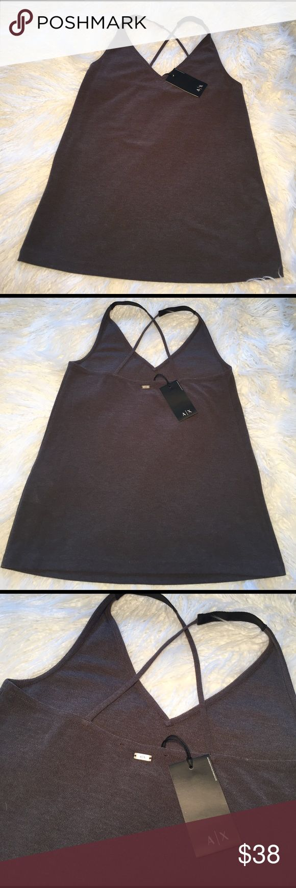 A/X ARMANI EXCHANGE Cross Strap Tank Top A/X ARMANI EXCHANGE Cross Strap Tank Top Women's A/X Armani Exchange Tops Tank Tops