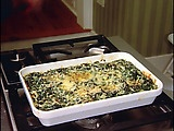 Spinach Gratin, ala Ina Garten. This is the yummiest dish! I make it for Thanksgiving a lot, and it's delish!