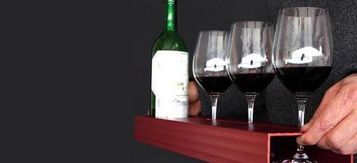 Bandeja para botella + copas www.dispedisa.com/info-util/accesorios-para-vino