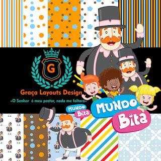 Kit digital papel - Mundo Bita
