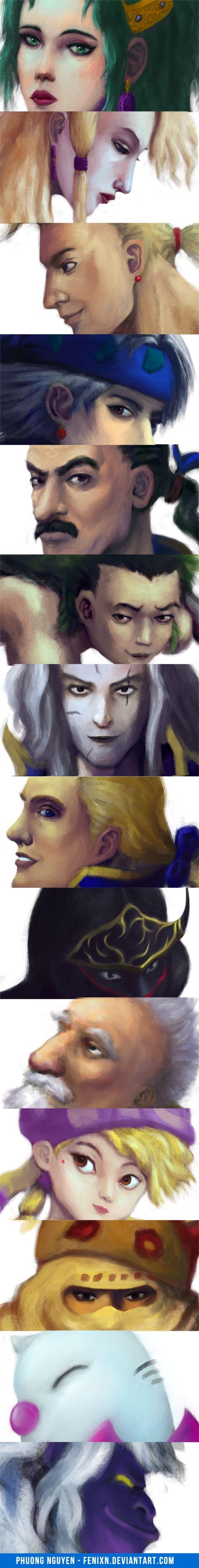 Final Fantasy 6 Character Portraits