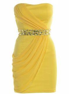 Yellow Formal Dress. forty six dollars. | best stuff