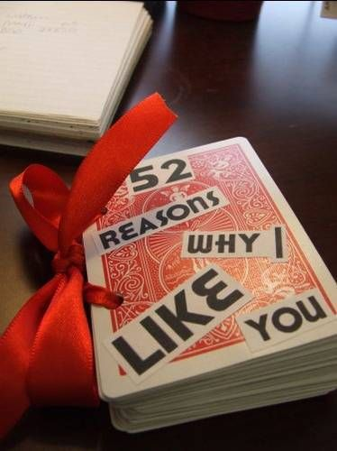 Use a deck of playing cards to highlight 52 reasons why... :)