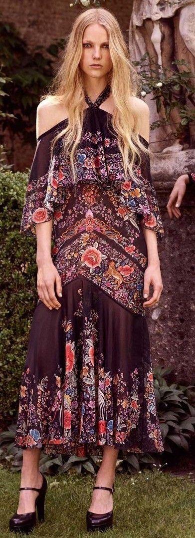 Halter Maxi Boho Dress                                                                             Source