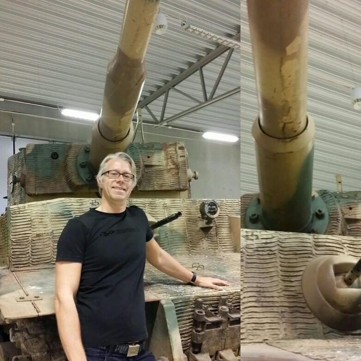 Me and the Tiger tank at the Arsenal museum in Strängnäs, Sweden