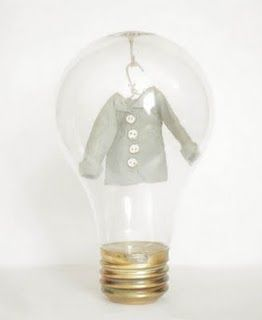fabulous paper clothes in light bulbs - amazing http://littleprojectiles.blogspot.com/