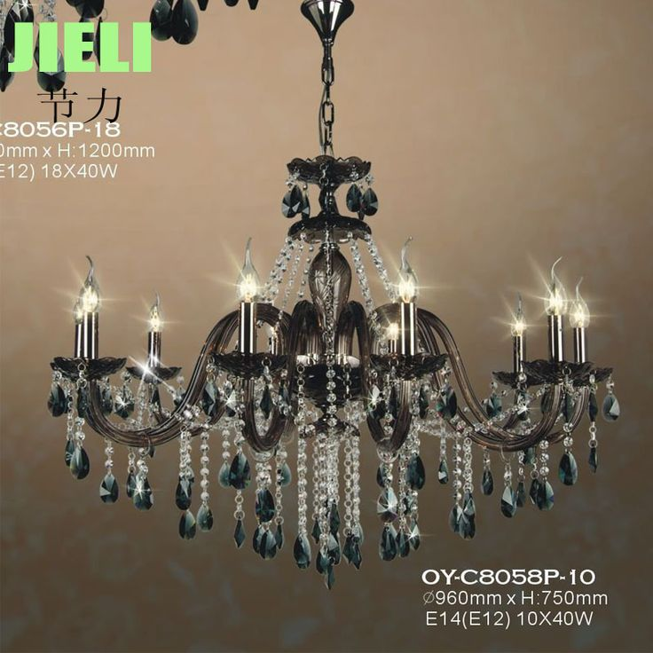 Free Shipping Modern 10 Lights Brown Crystal Candle Chandelier Lighting Glass Chandelier For Living Room -- Check out this great image…