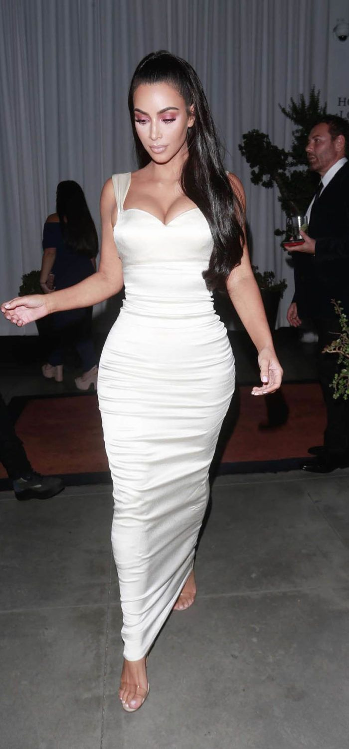 30ec384d389 Kim Kardashian in White Dress