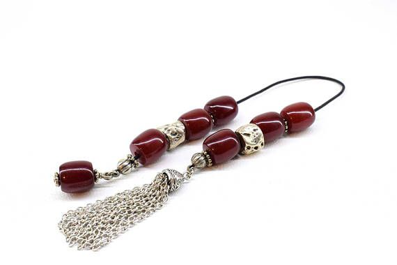 Red Begleri Burgundy color Acrylic Faturan beads Small
