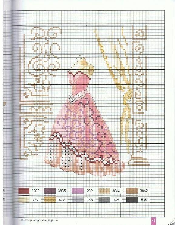 En ce dimanche pluvieux ici, je vous partage une grille d'une jolie robe, trouvée sur PINTEREST. demain résultat du concours Bon dimanche, bonnes petites croix