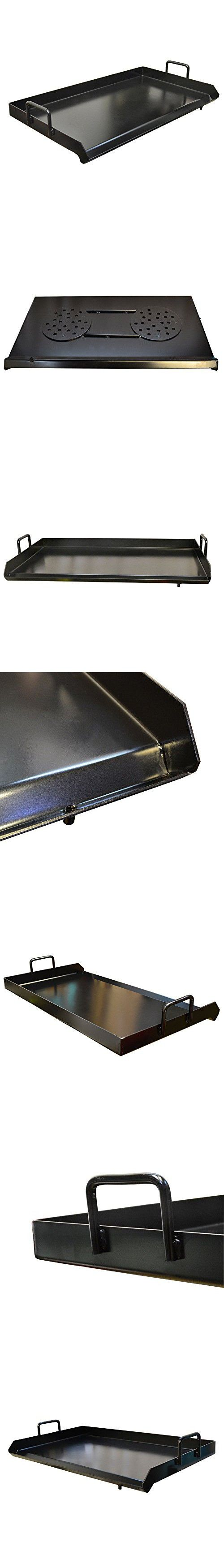 Heavy Duty 32'' Black Steel Flat Top Griddle Grill Plancha Comal Double Burner