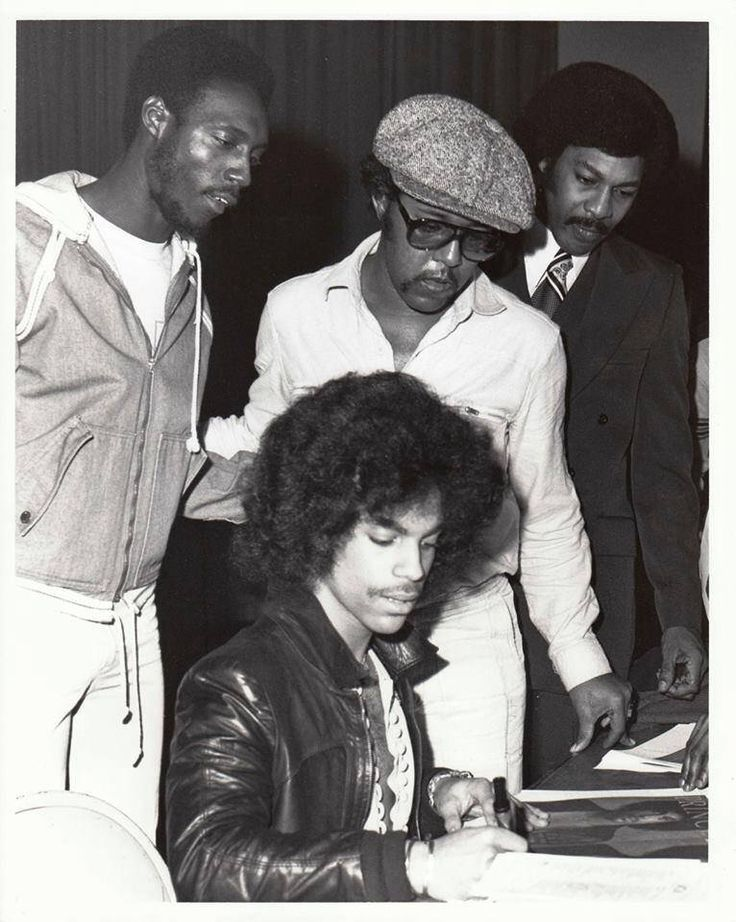 Classic Prince | 1978 For You - Prince appears to be signing autographs at a signing session. Looks like Pepé Willie may be behind Prince but I can't really tell...