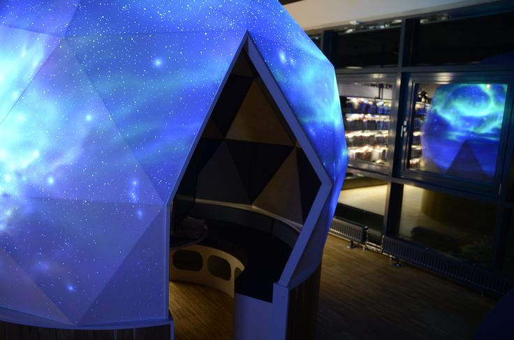 Longyearbyen public Library - With glow in the dark artwork made of Bogi Fabian