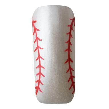 "Nail Art How To: ""Slide into Home"" Baseball Nail Art | Nail Trends | Sports Nails | Cute Summer Manicure | Nailpro Magazine"