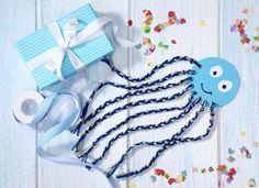 Krake, Tintenfisch, Wolle, Zöpfe flechten, DIY, Basteln mit Kindern, Kindergeburtstag, produziert für tambini.de