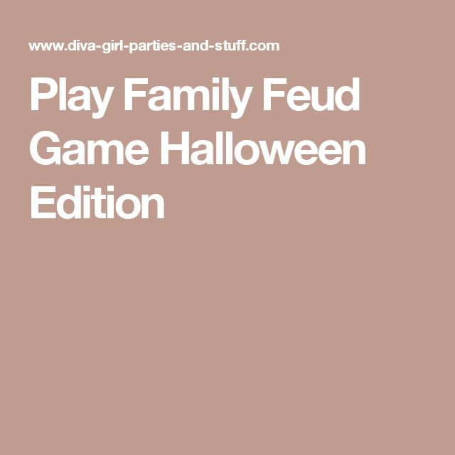 Play Family Feud Game Halloween Edition