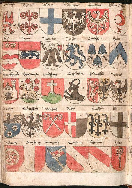Folio 259v. from Wernigerode Wappenbuch, Bavaria, c. 1486–1492