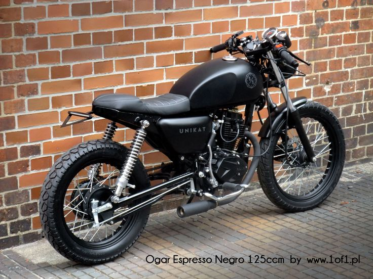 Ogar 125 ccm Espresso Negro - black matte cafe racer by Unikat Motorworks