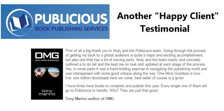 "Another ""Happy Client"" Testimonial  http://www.publicious.com.au/testimonials.html"