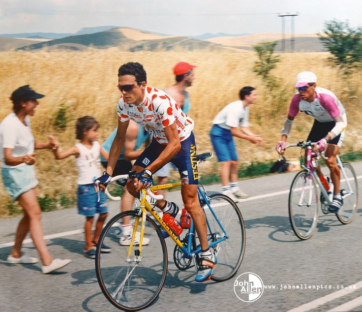 Tour de France 1996, stage to Pamplona. Richard Virenque and Jan Ullrich