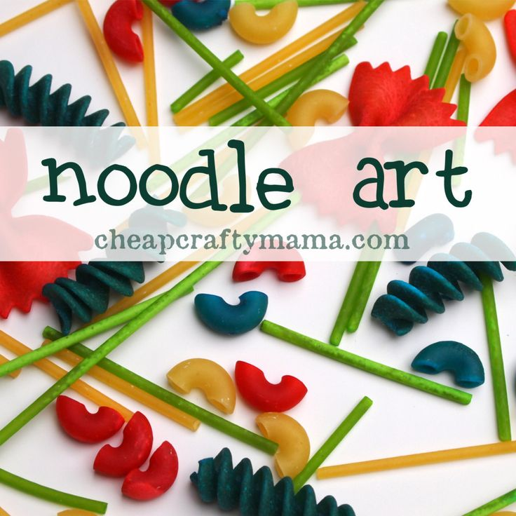 """N"" is for {noodle art}- dye noodles and play/learn/create with them!"