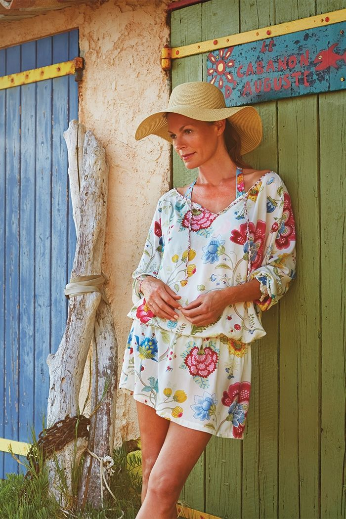 Tunic Cover-up ~ Dunc Floral Fantasy Tuniek Roze | PiP Studio
