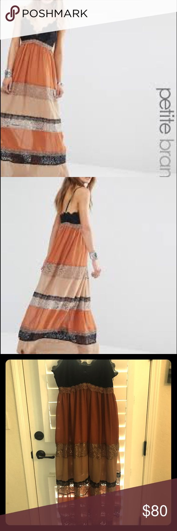Glamorous petite lace insert maxi dress Asos Glamorous petite lace insert maxi dress nwt ASOS Petite Dresses Maxi