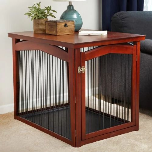Merry Products 2-in-1 Configurable Pet Crate and Gate - Dog Crates at Hayneedle