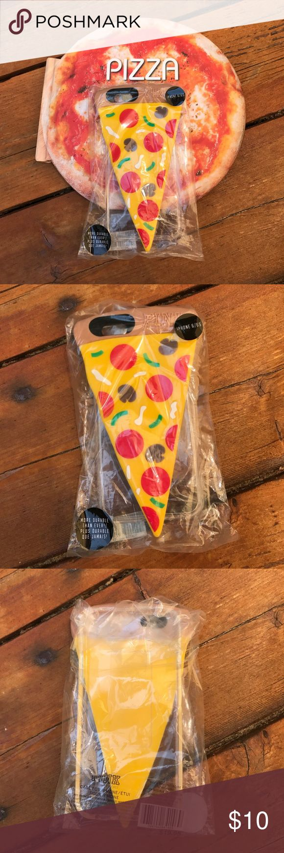 Pink iPhone 6/6s 🍕Case NWT Cute & Fun Pink IPhone 6/6S Cell Phone 🍕Case! Front of the case is pizza back of case is clear! NO TRADES. PINK Victoria's Secret Accessories Phone Cases