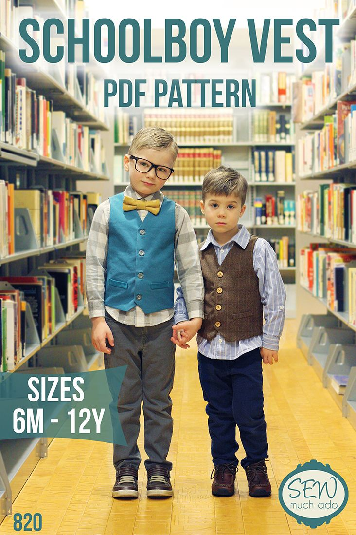 Boy's Vest Pattern - Schoolboy Vest by Sew Much Ado