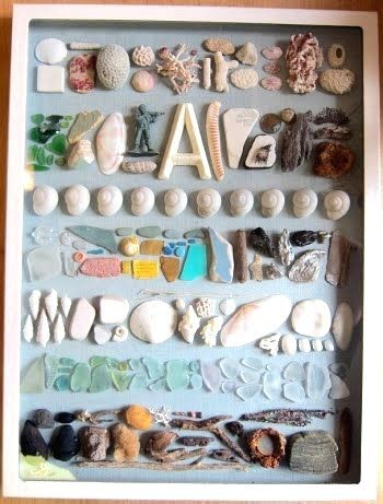 After a summer of collecting treasures from the beach, use them to create a one-of-a-kind display!