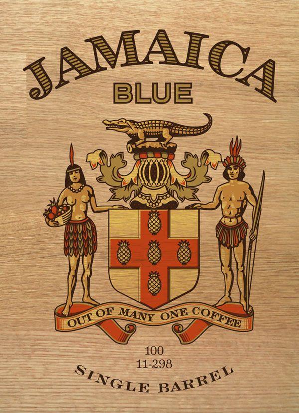 Jamaica Blue Premium Coffee Packaging design