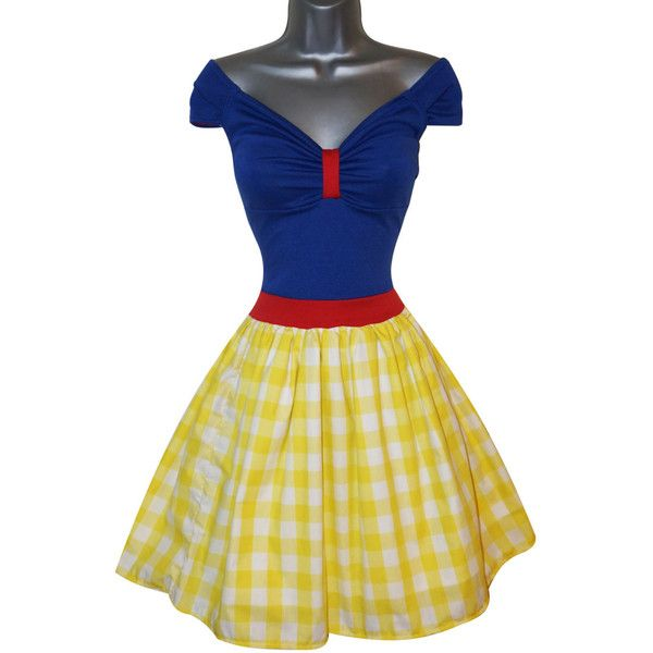 Adult Princess Snow White Fancy Dress Costume (UK 12) (US 8) (EUR 40)... (78 AUD) ❤ liked on Polyvore featuring costumes, womens princess costume, adult women halloween costumes, ladies halloween costumes, princess costume and adult women costumes