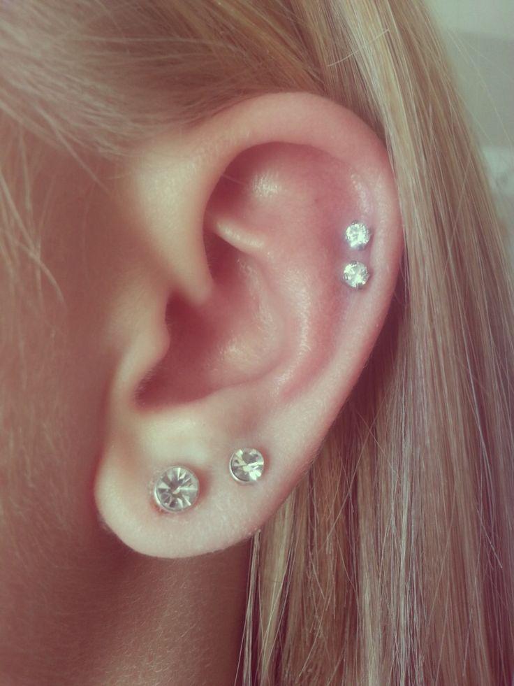 i randomly got my ears pierced today earrings pinterest. Black Bedroom Furniture Sets. Home Design Ideas