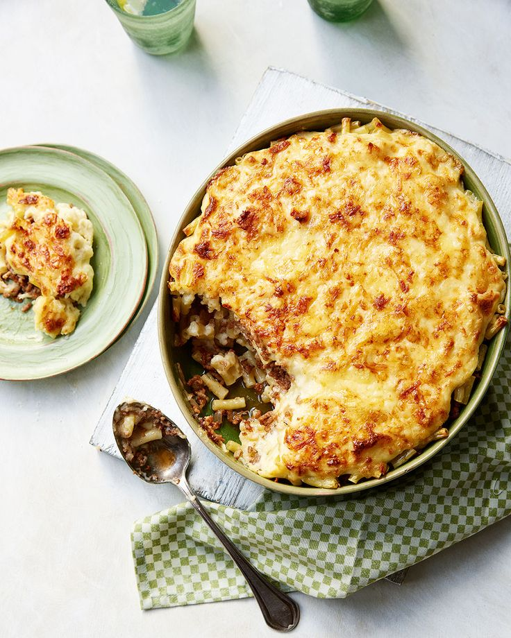 Hülya Erdal shares her mother's recipe for this authentic Cypriot macaroni cheese recipe, complete with halloumi, lamb mince and cinnamon