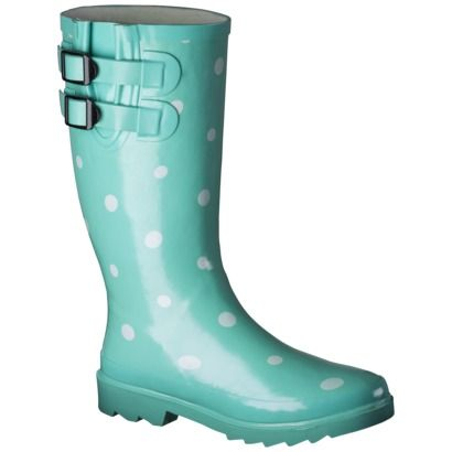 For times as we have now, we need cute mint dot rain boots.