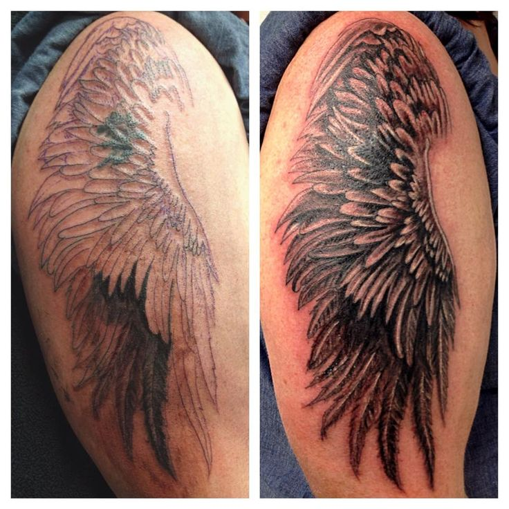 Wing Cover Up Tattoo by Madlen
