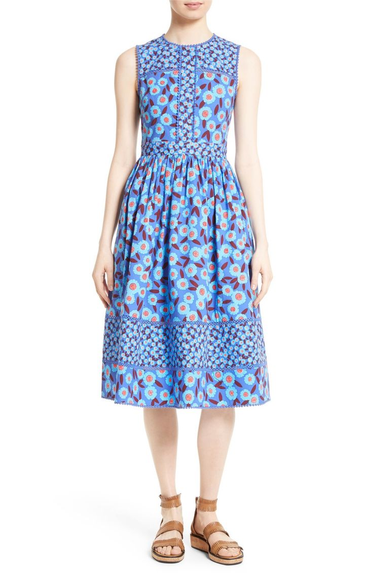 Main Image - kate spade new york tangier floral midi dress