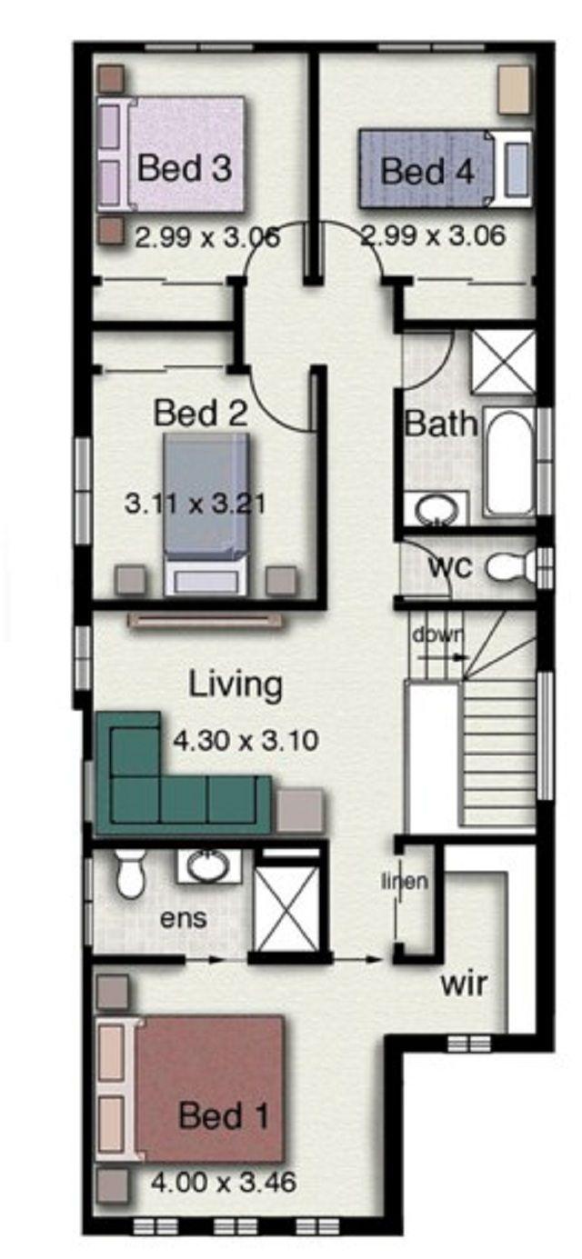Plano De Casa De Dos Pisos Con Estilo Minimalista Planos De Casa De Dos Pisos Casas De Dos Pisos Planos De Casas Modernas