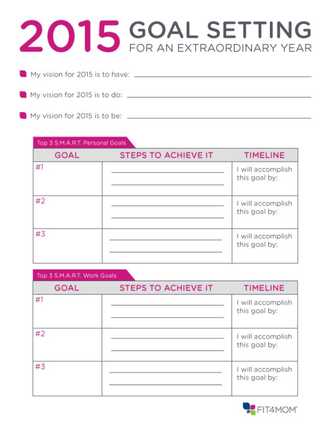 Here's a goal setting planner you can use to jumpstart your 2015. #goalsetting #2015planner