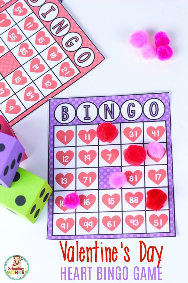 33d7024b662dfb469c2f72786fb9b1a4 - Make math fun this Valentine's Day with this printable Valentine bingo game! Thi...