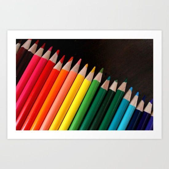 """Colored Pencils"" Art Print by LadySnowAngel #photography on @society6"
