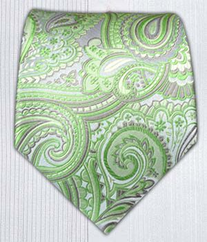 Tie option 2 - Check-Me-Out Paisley - Apple    Ties - Wear Your Good Tie. Every Day - Check-Me-Out Paisley - Apple Ties