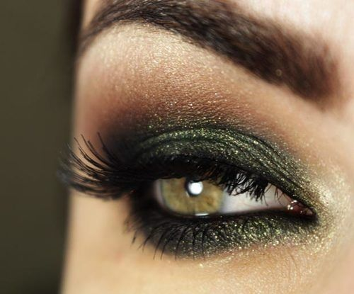 Hazel Eye Make-up (my mum has a hazel colour very similar to this and I think it looks lovely)
