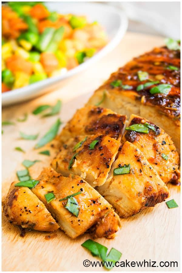 Best Baked or Grilled Chicken Marinade Recipe - use Truvia or Splenda in place of the honey