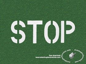 Textures Texture seamless | Road markings stop sign texture seamless 18786 | Textures - ARCHITECTURE - ROADS - Roads Markings | Sketchuptexture